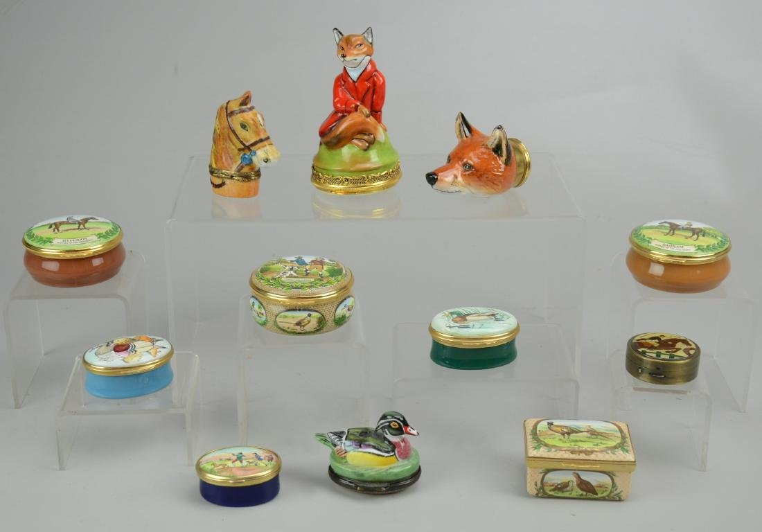 (12) Hunting & Horse Related Trinket Boxes