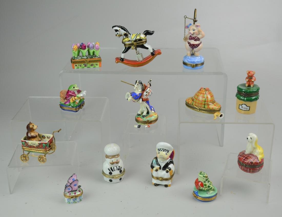 (13) Porcelain Figural Trinket Boxes