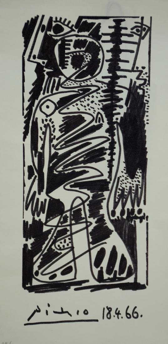 after Pablo Picasso, offset lithograph on paper