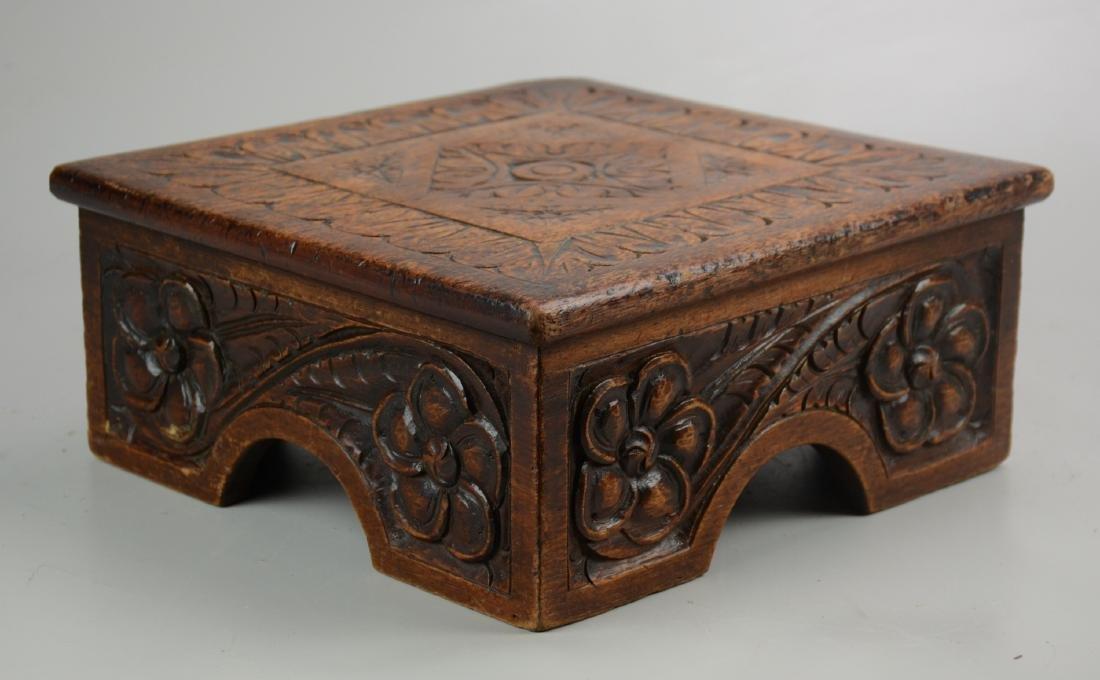 Carved Mahogany Stool