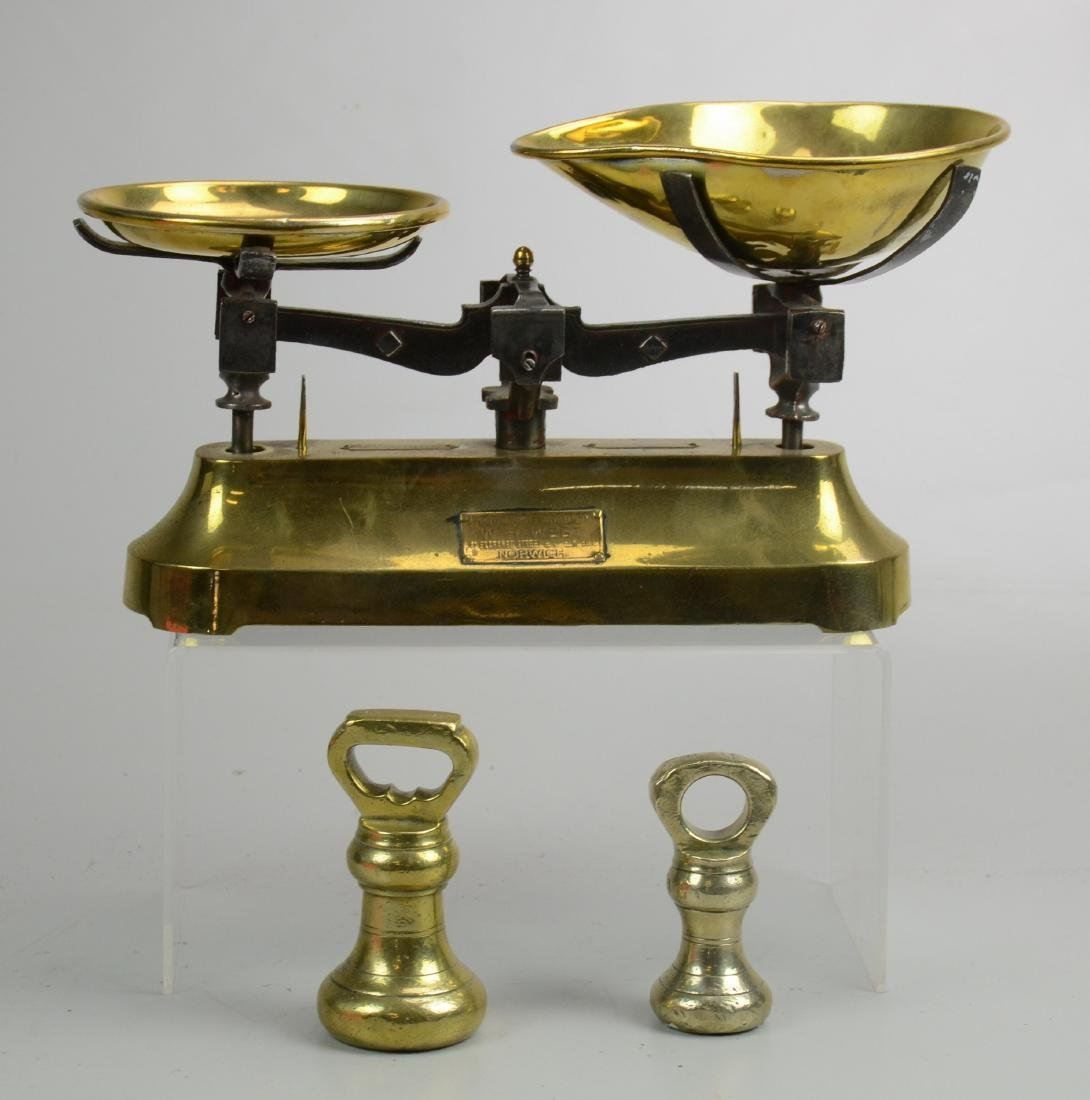 Early Brass Scale with Brass Weights