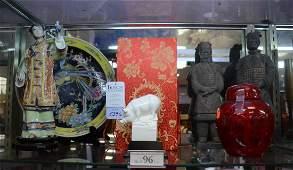 Shelf #96 - (6) Pcs Asian porcelain & pottery