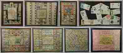 (8) Framed Stamp Collections