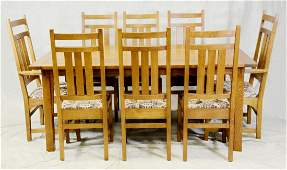 9pc Mission style Crafts Stickley dining set