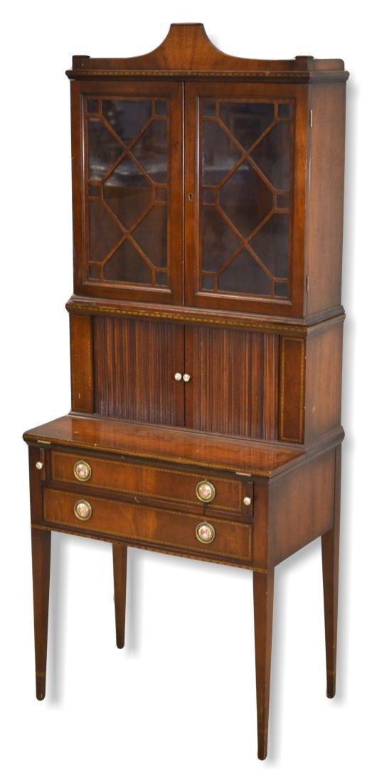 Inlaid Mahogany Hepplewhite style Secretary Desk