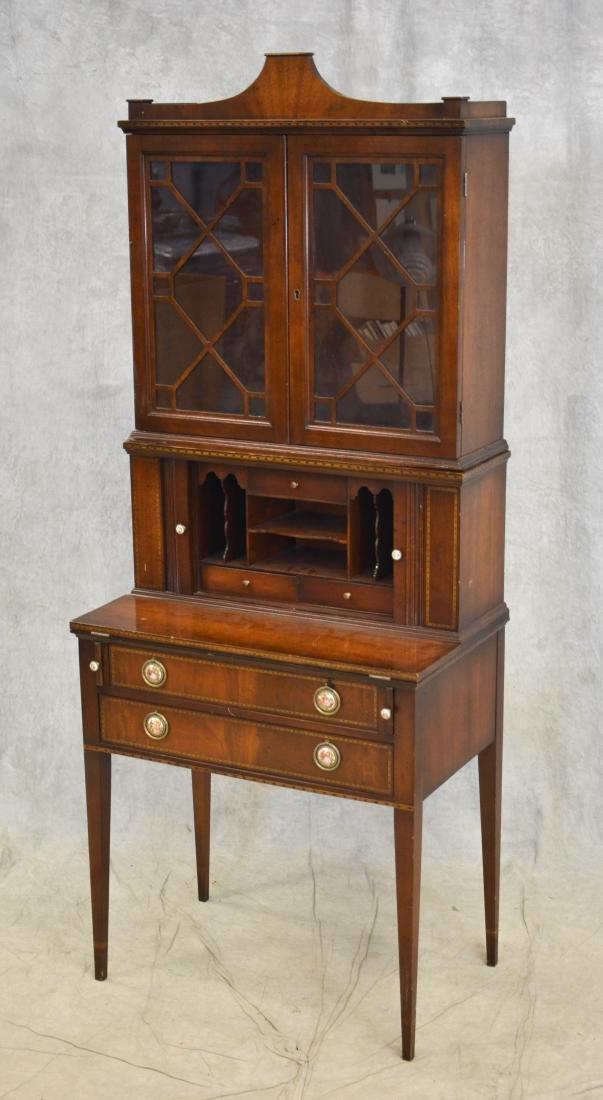 Inlaid Mahogany Hepplewhite style Secretary Desk - 2