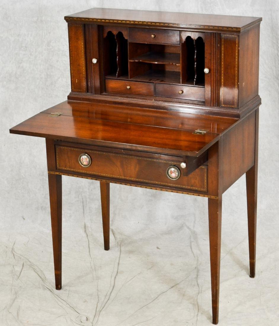 Inlaid Mahogany Hepplewhite style Secretary Desk - 5