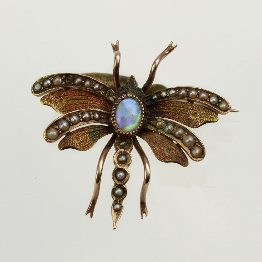 YG Victorian butterfly pin