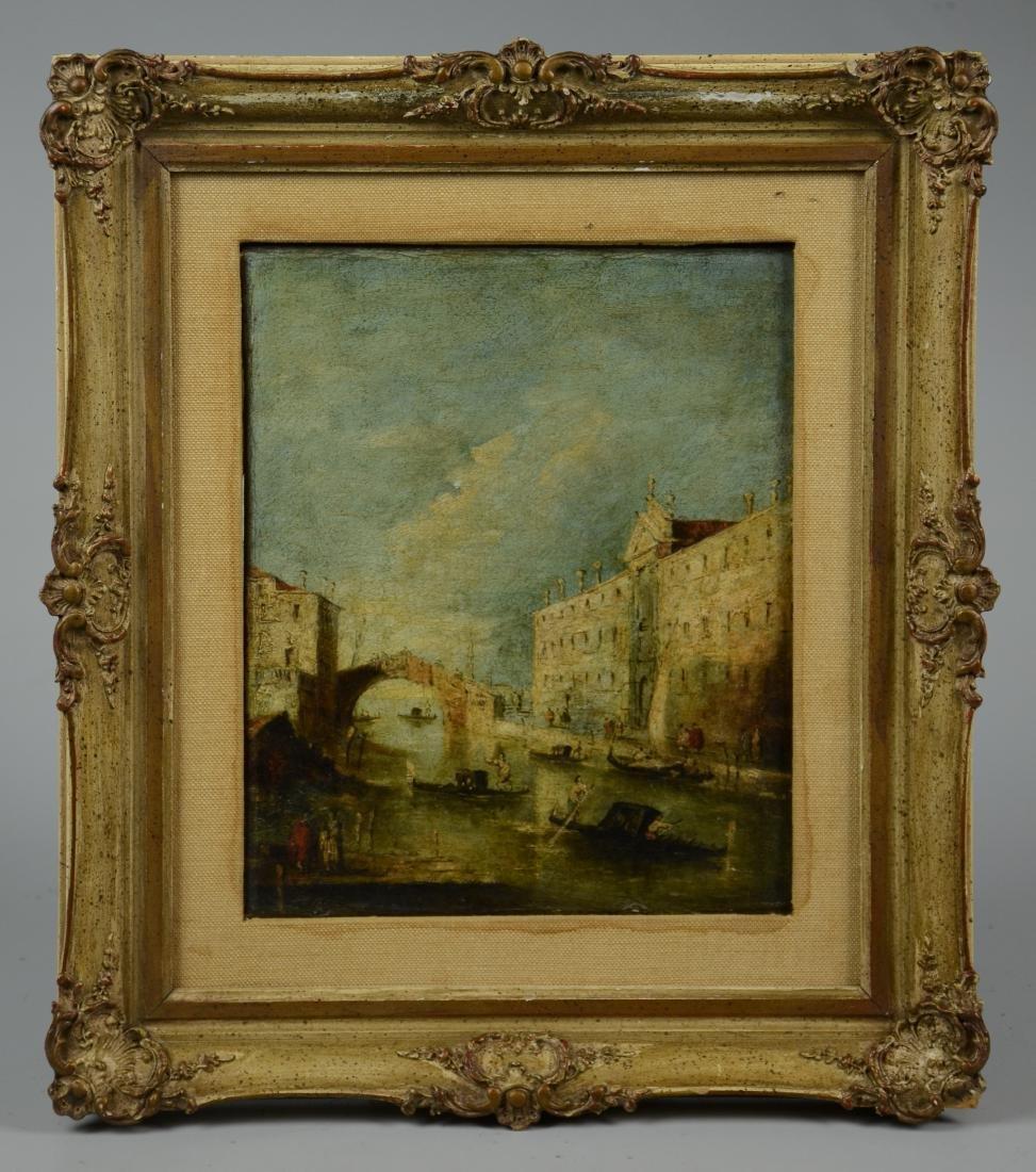 18th C Italian School Venetian Harbor Scene Painting - 2