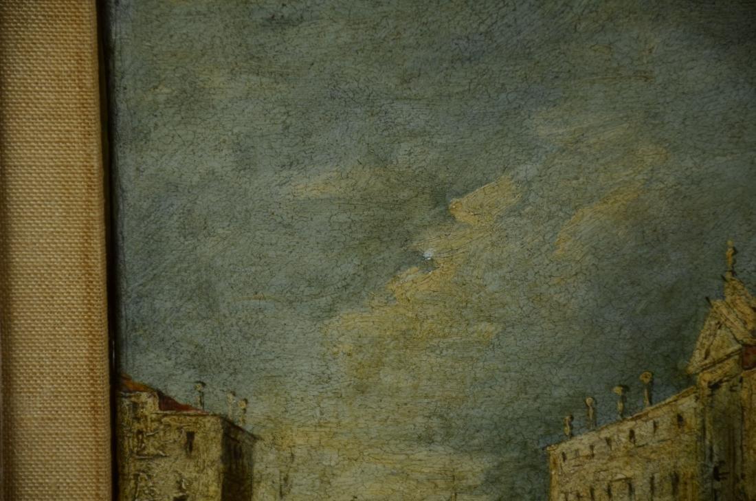 18th C Italian School Venetian Harbor Scene Painting - 7