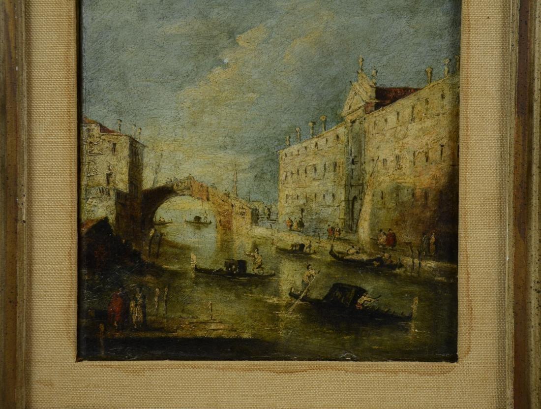 18th C Italian School Venetian Harbor Scene Painting - 8