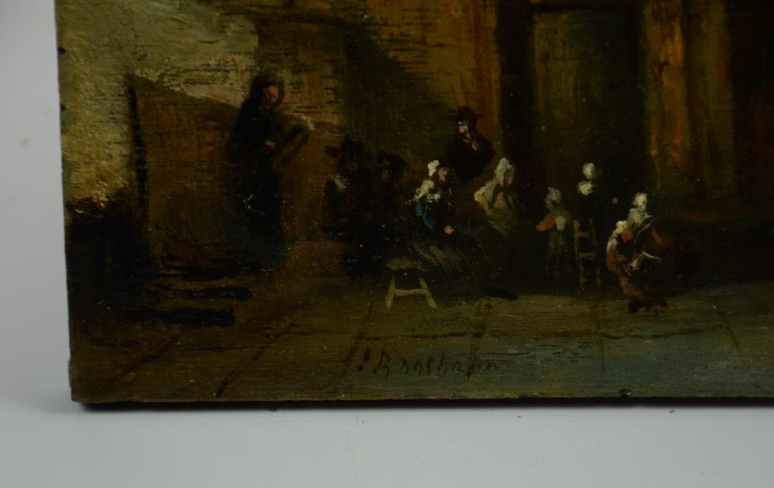Early Dutch School Painting of Church Interior - 3
