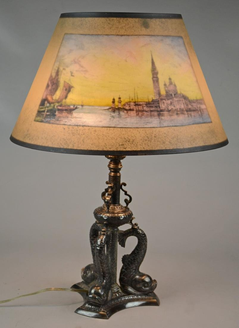 Pairpoint Painted Table Lamp