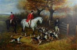 Reproduction Painting of Hunt Scene