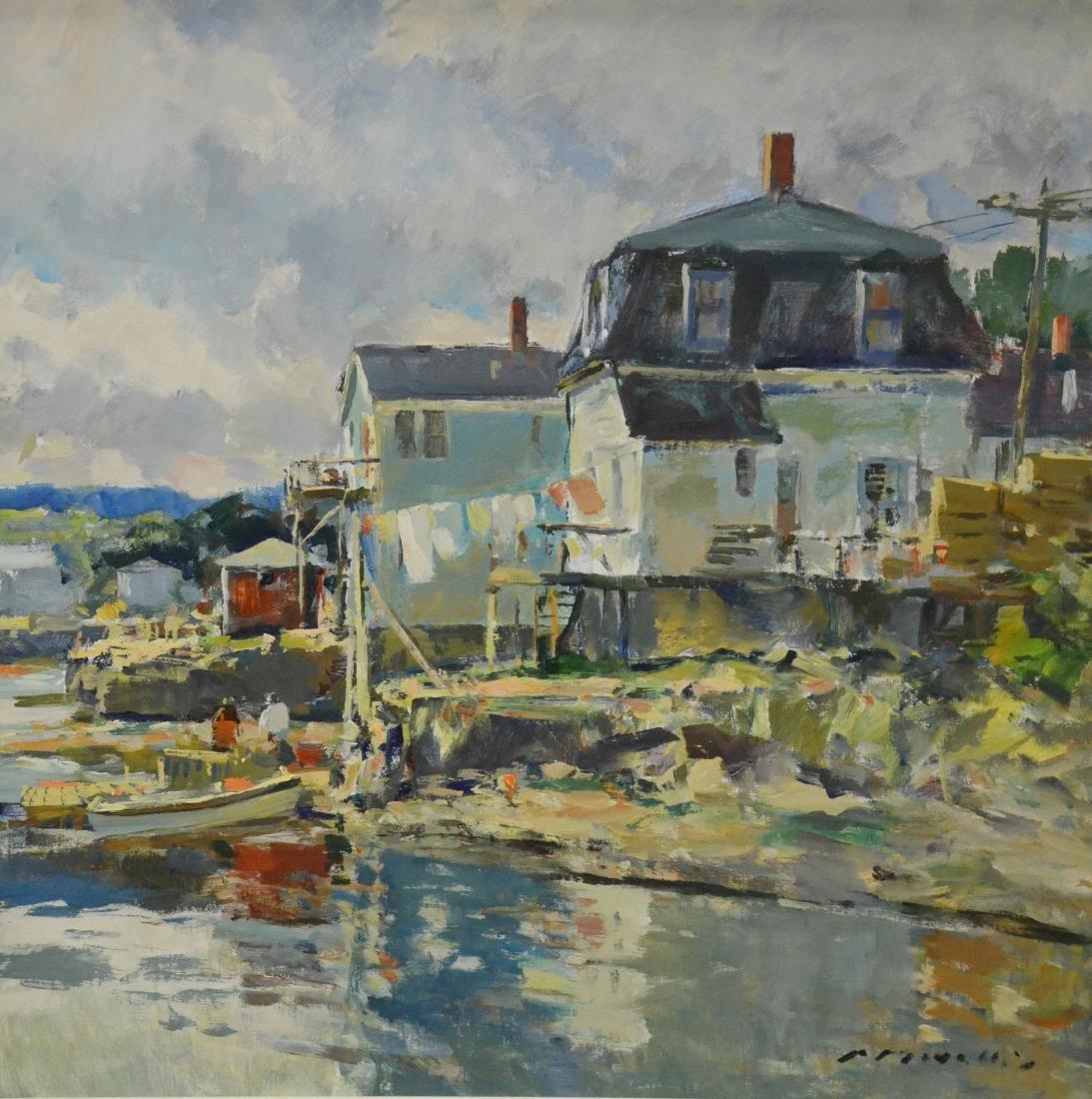 "Movalli, Charles, acrylic on canvas ""Stonington, CT"""