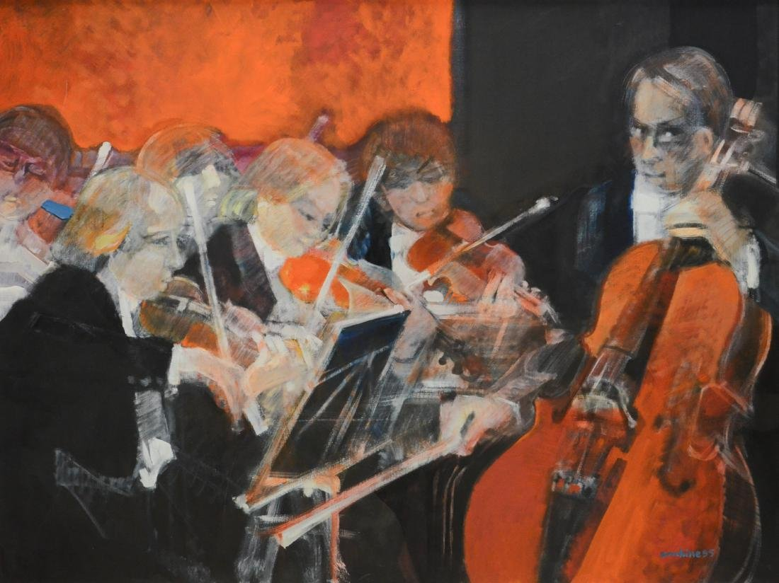 "Ambille, Paul, oil on canvas ""Au Concert"""