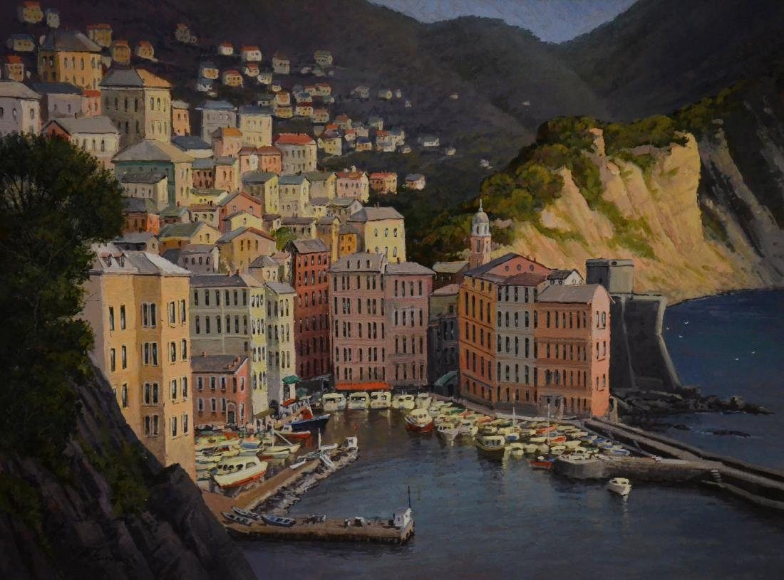 """Sievers, Gregory, oil on canvas """"Kamogli, Italy"""""""