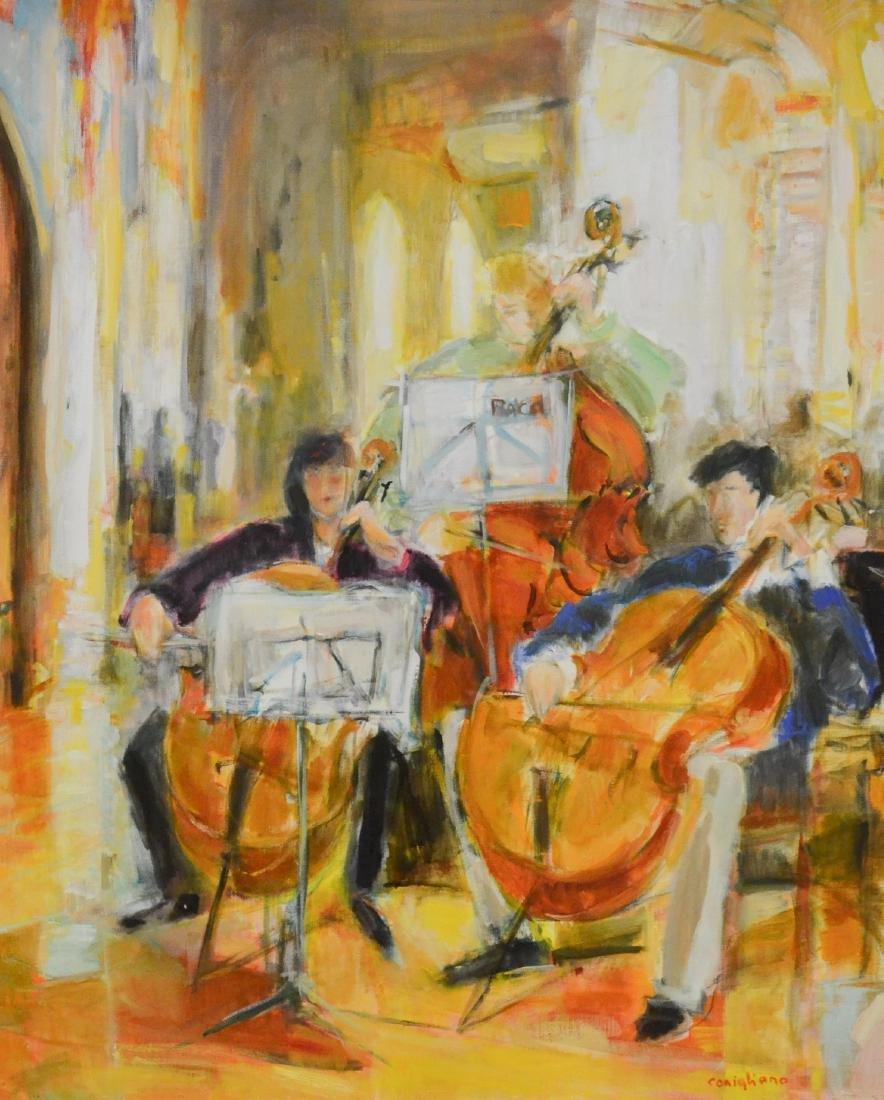 """Conigliano, Conchita, oil on canvas """"Le Trio"""""""