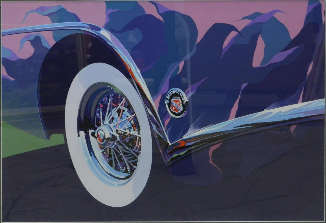 "Hale, Tom, gouache on paper ""1953 Buick"""