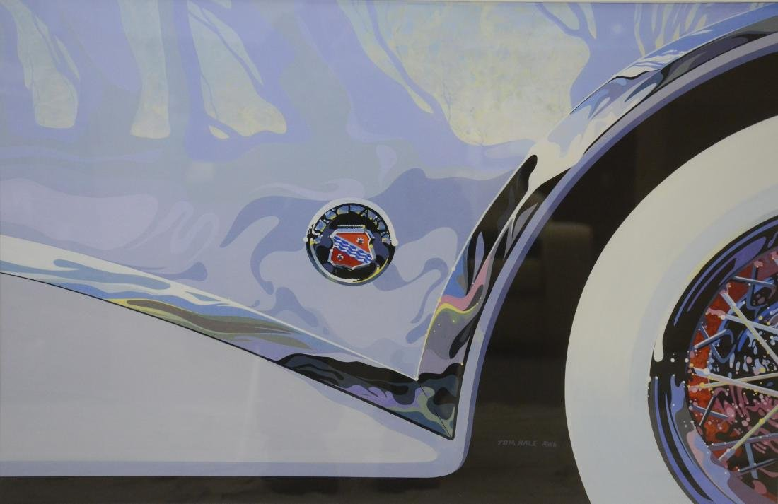 "Hale, Tom, gouache on paper ""Buick Skylark"""