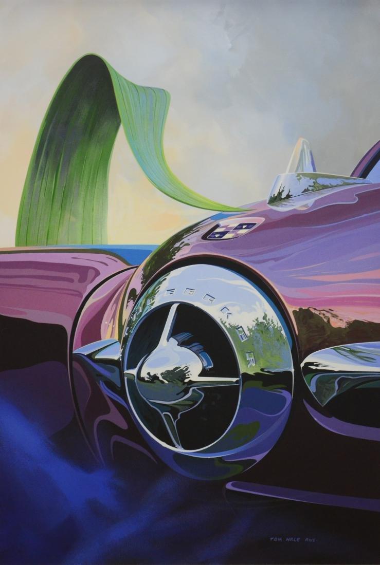"Hale, Tom, acrylic on paper ""1950 Studebaker"""