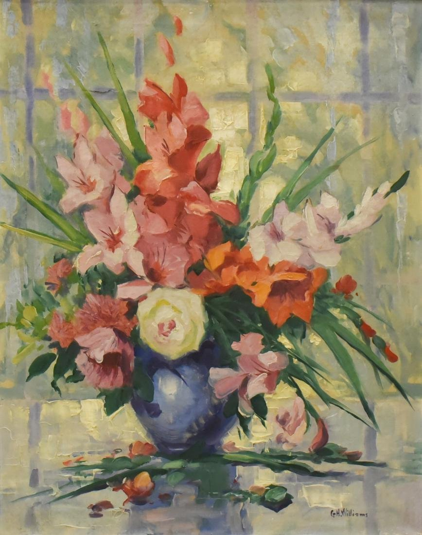 "Williams, G H, oil on canvas ""Gladiolas"""