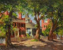 """Colao, Rudolph, oil on canvas """"Upper Main Street,"""