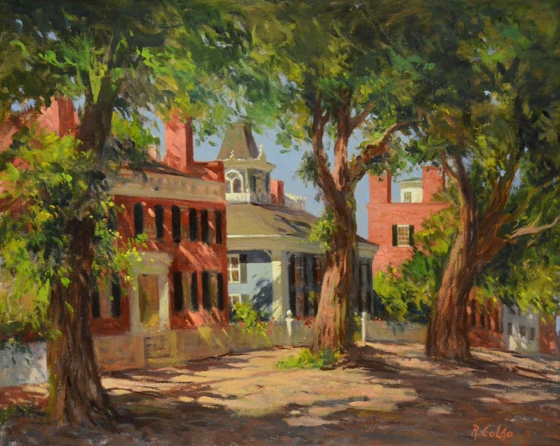 "Colao, Rudolph, oil on canvas ""Upper Main Street,"