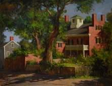 "Colao, Rudolph, oil on canvas ""Nantucket Brick Mansion"""