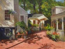 """Colao, Rudolph, oil on canvas """"Nantucket Flower Shop"""""""