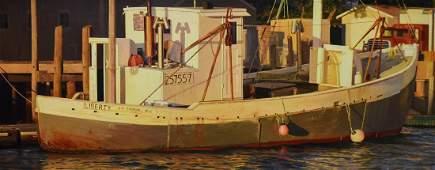 "Hoyt, William, oil on canvas ""Liberty, Round Pond, ME"""