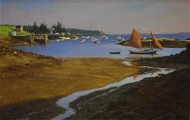 """Hoyt, William, oil on canvas """"Pinky - Port Clyde"""""""