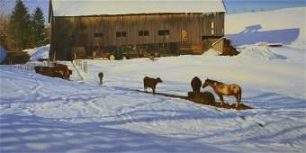 "Hoyt, William, oil on canvas ""Hill Top Farm (East"