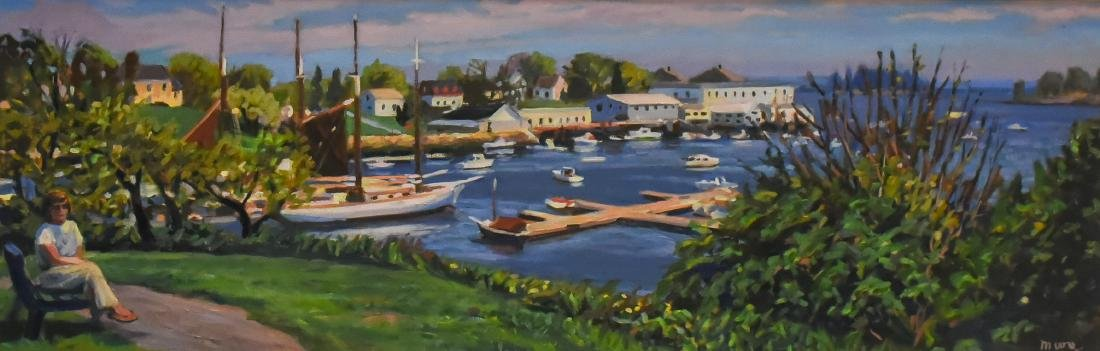 "Moore, Scott, oil on canvas ""Harbor Overlook"""""