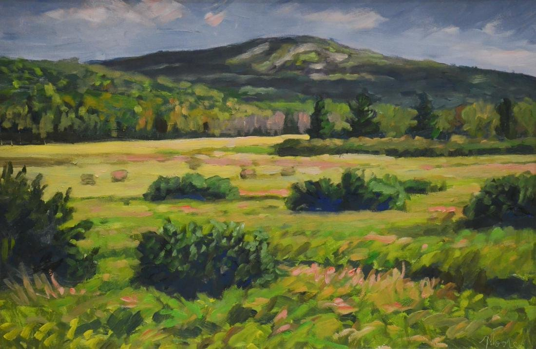 "Moore, Scott, oil on board ""Mt. Waldo from Frankfort"""