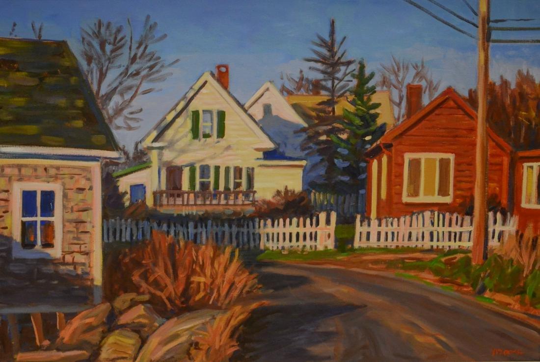 "Moore, Scott, oil on canvas ""Island Houses, Vinalhaven"""