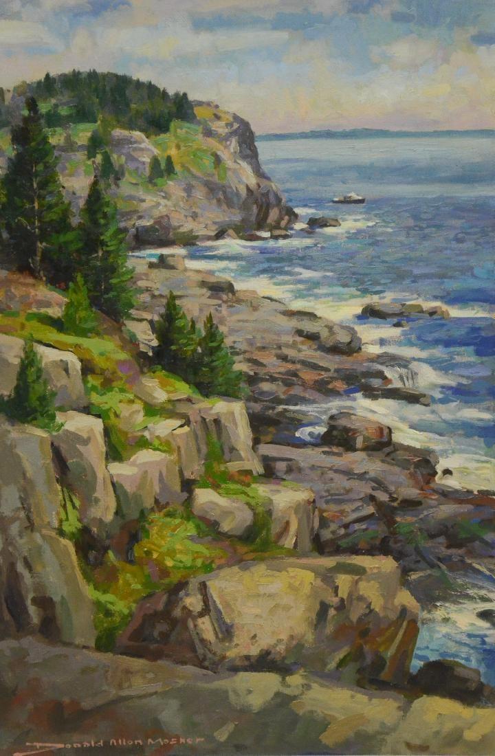 "Mosher, Donald, oil on canvas ""Monhegan Cliffs"""