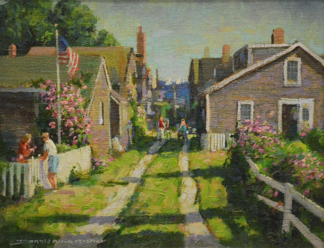 "Mosher, Donald, oil on board ""Back Street, Nantucket"""
