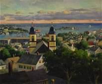 Mosher Donald oil on canvas Gloucester Overlook
