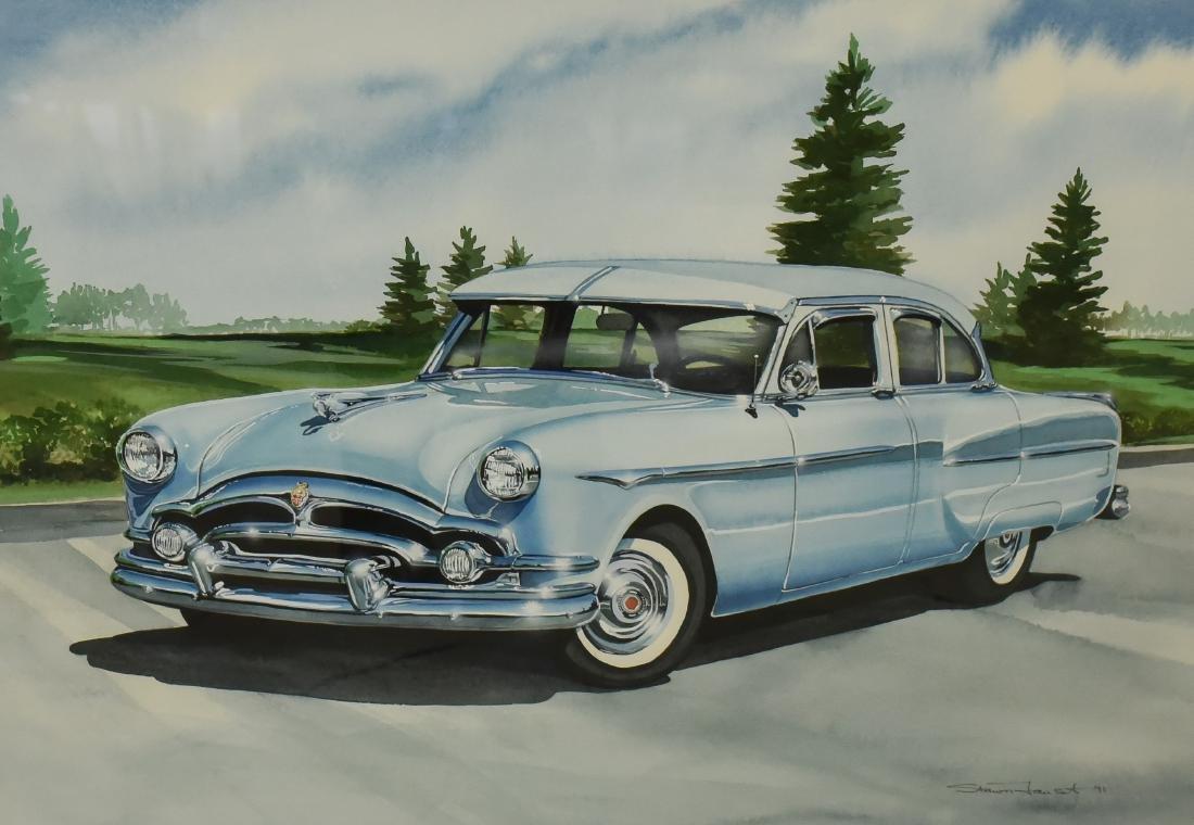 "Faust, Shawn, watercolor ""Blue Cadillac"""