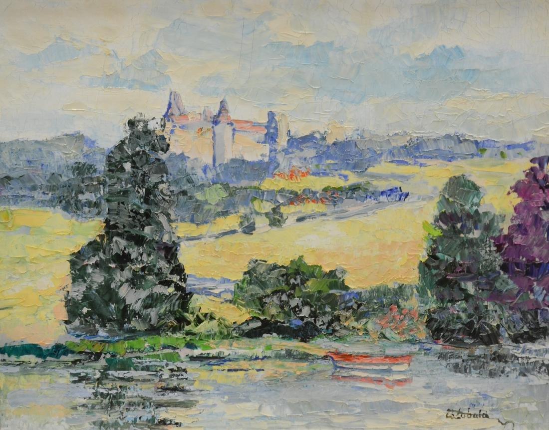 "Theobald, Renee, oil on canvas ""Le Chateau et la"