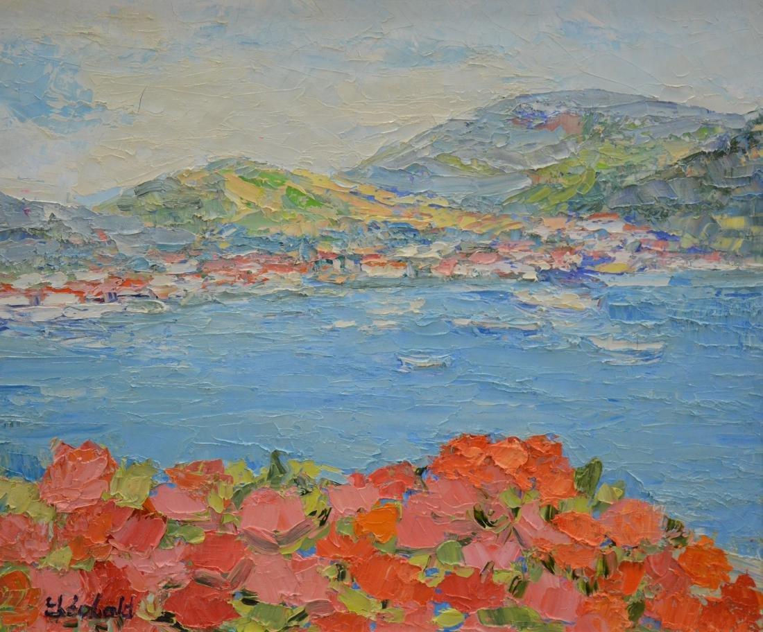 """Theobald, Renee, oil on canvas """"Fleurs aux Antilles"""""""