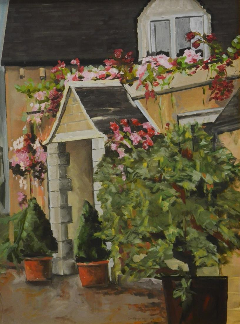 """Lesher, Carol Horgan, oil on canvas """"Front Entrance in"""