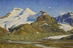 Smith Matt oil on canvas Mt Athabsca