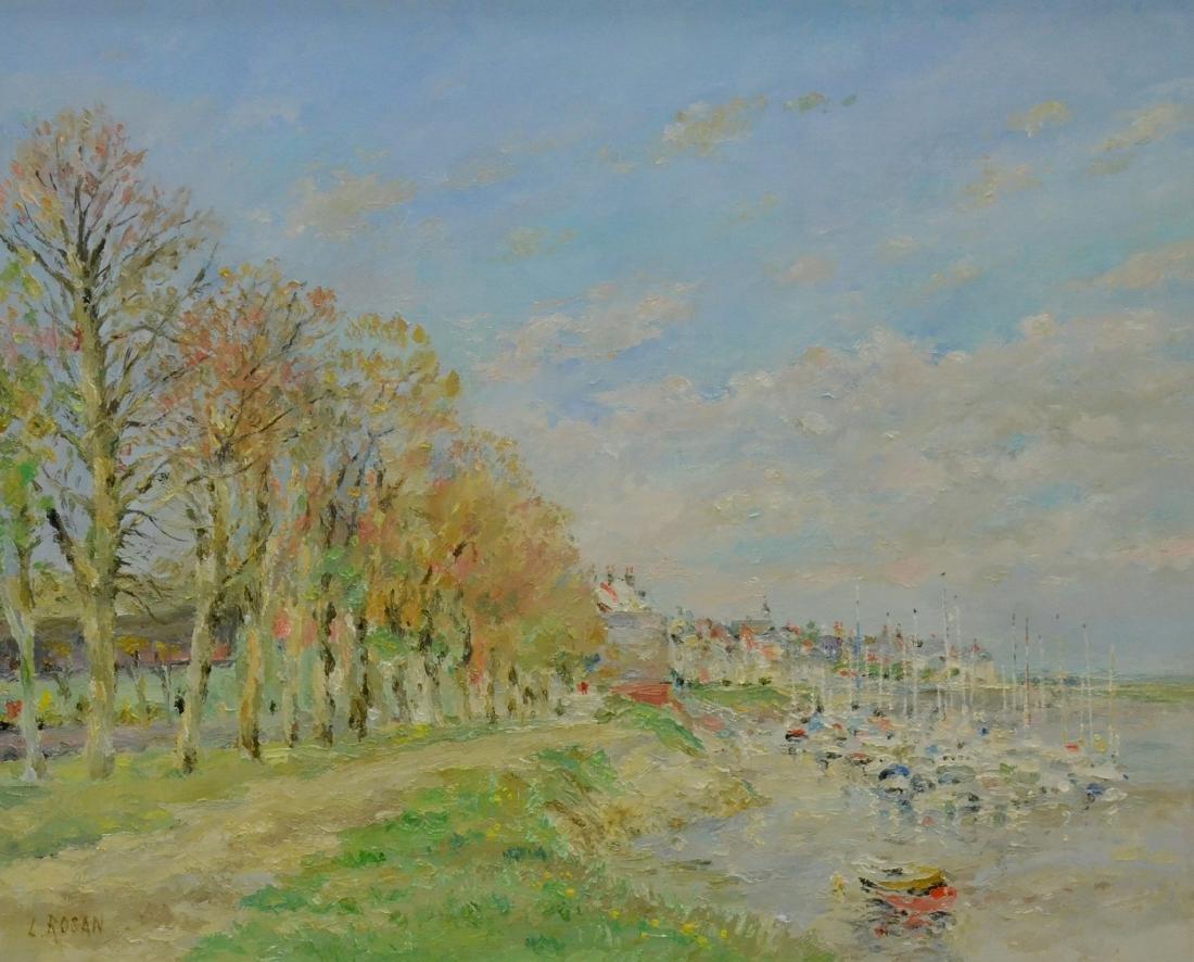 """Rosan, Louis, oil on canvas """"St Valery sur Somme au"""