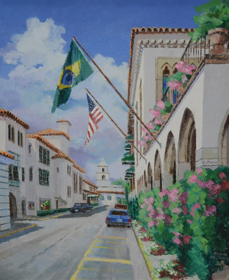 "Pastorini, Ronni, oil on canvas ""Flags"""