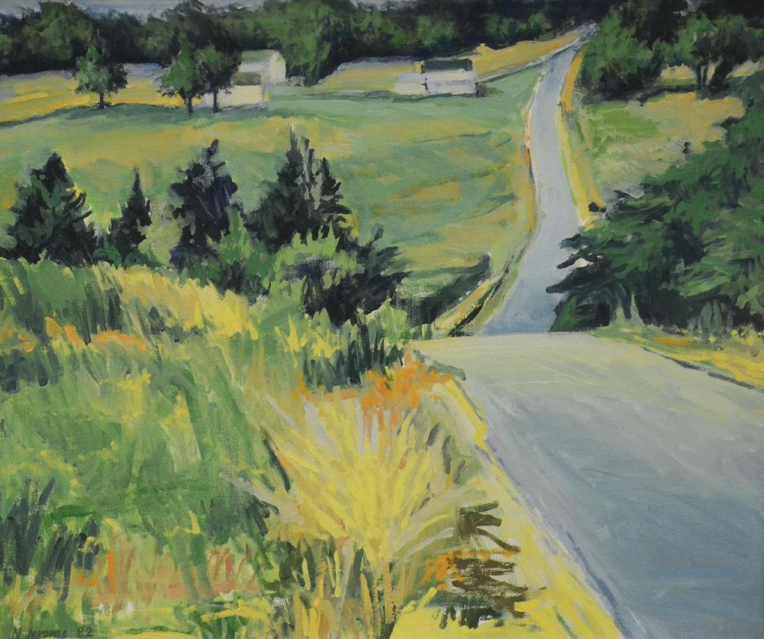 "Jerome, Nina, oil on canvas ""Falls Road, Orland #16"""