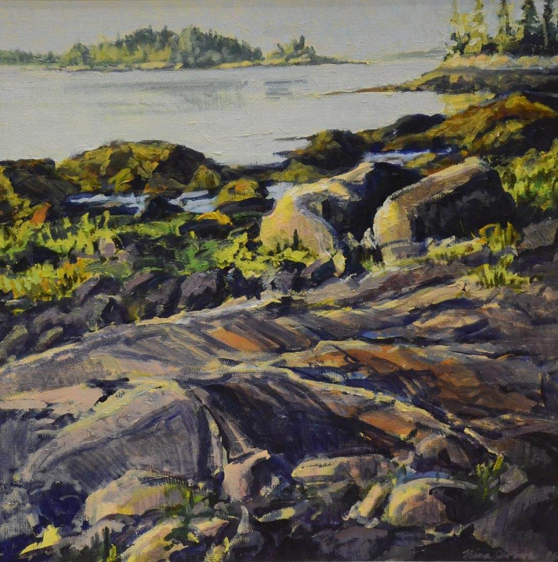 "Jerome, Nina, oil on canvas ""Early Light, Cool Granite"""