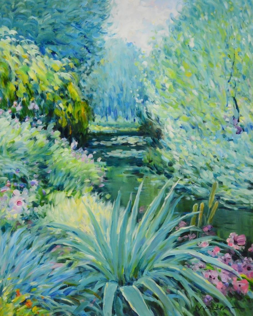 "Malva (Hamdi, Omar), oil on canvas ""Fleurs et Cactus a"