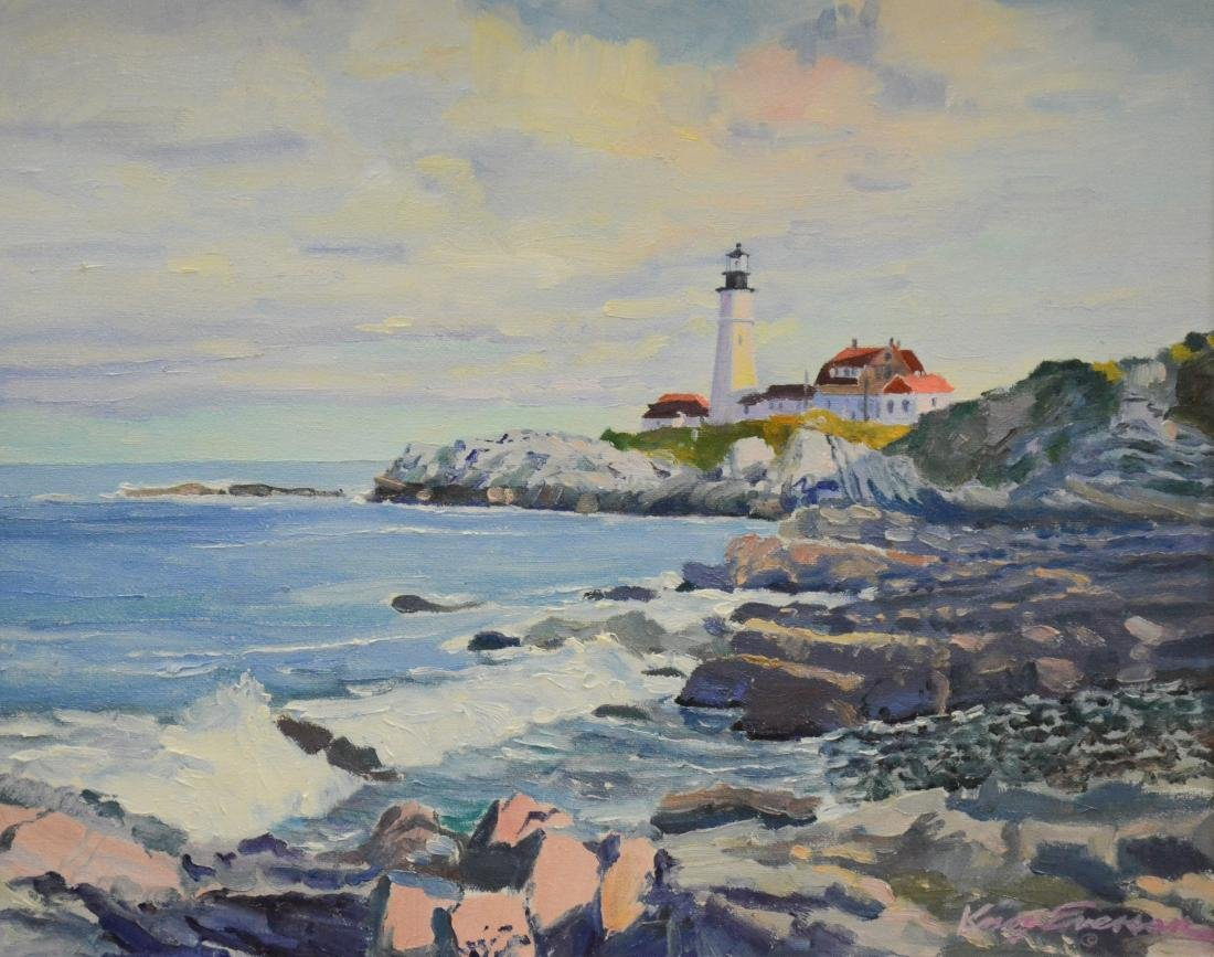 "Everson, Knox, oil on canvas ""Portland Head Light"""